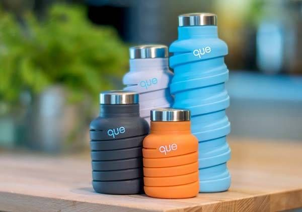 The que Fashionable and Collapsible Water Bottle