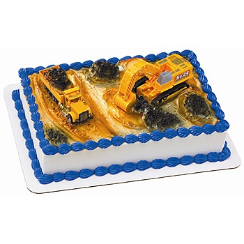 This Construction Dig Cake Deco Set includes one truck and one loader to make a construction theme. Decorate your Construction Birthday Cake with these 4 x 6 plastic Construction Cake Decorations.