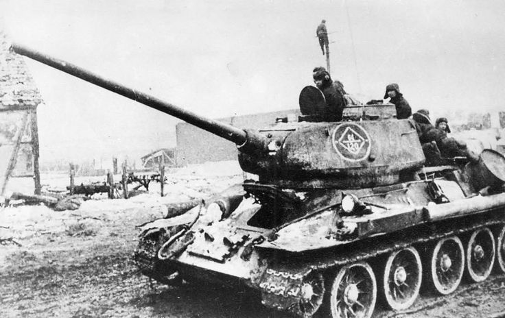 T-34-85 of the 64th Guards tank brigade