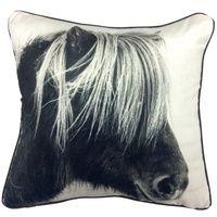 Set 2 Mono Horse Cushions Home Decor