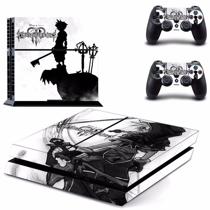 *NEW* Playstation 4 Skin! Featured Game 'Kingdom Hearts' Includes : - (2) Controller Skins - (1) Console Skin