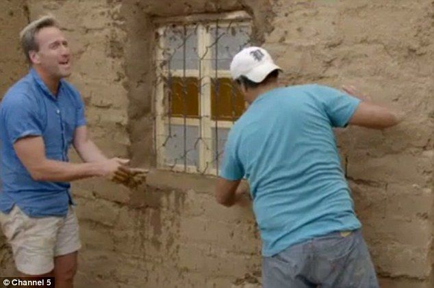 The presenter got stuck in helping fit a window into their new guest wing which was secure...