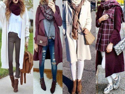maroon-winter-looks- Street styles for winter 2017 http://www.justtrendygirls.com/street-styles-for-winter-2017/