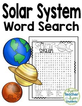Solar System Word Search  Words included are:MERCURY, VENUS, EARTH, MARS, JUPITER,         SATURN, URANUS, SOLAR, SYSTEM, NEPTUNE, SUN, MOON, SATELLITE, ORBIT, ECLIPSE & GALAXYAnswer Key is included as well! Happy teaching ya'll!-------------------------------------------------------------------------------------------------Looking for more SOLAR SYSTEM Activities?