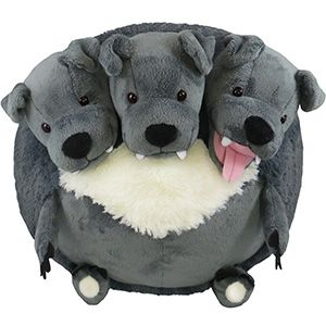 Squishable Cerberus! For all your Greek myth/Harry Potter/Percy Jackson three-headed dog nerds!
