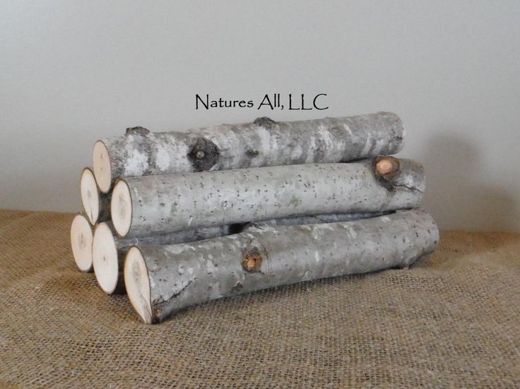 decorative aspen logs6 piece set12 inch lengthsfor rustic wedding and