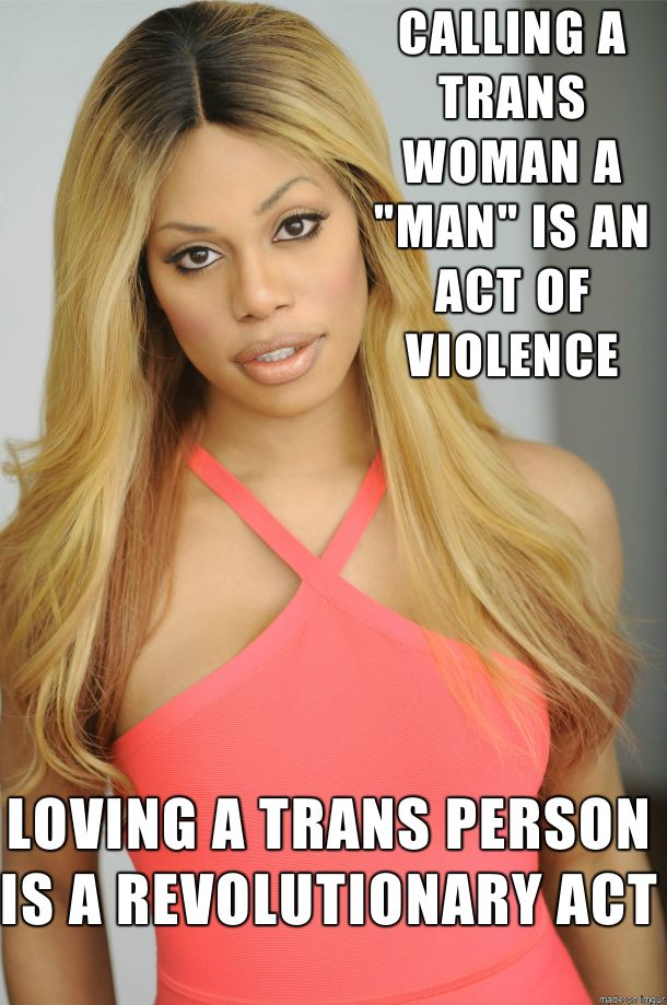 Laverne Cox creating change. Can I marry her? Please?