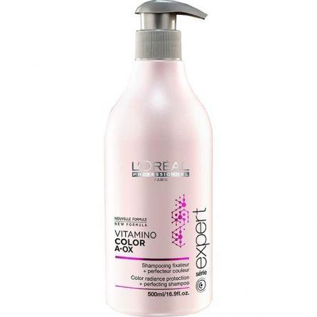 Fixateur de couleur et sublimateur de cheveux. Le shampoing Vitamino Color de L'Oréal Professionnel pas cher chez Peyrouse Hair Shop