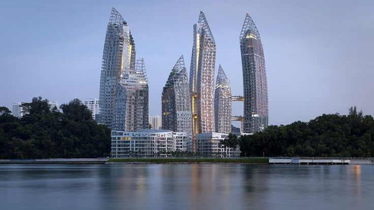 Reflections at Keppel Bay, Singapore, Keppel Harbor  // Architect: Daniel Libeskind, 2011