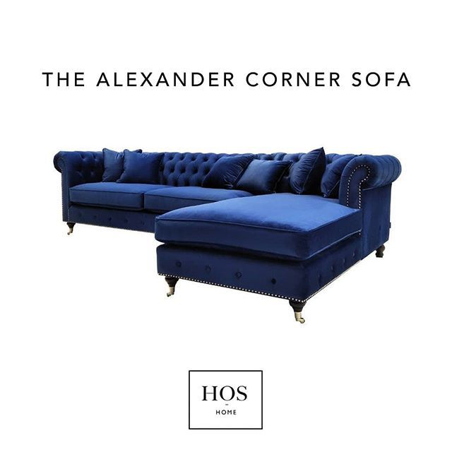 This Alexander Corner Sofa in Royal Blue is the ultimate ...
