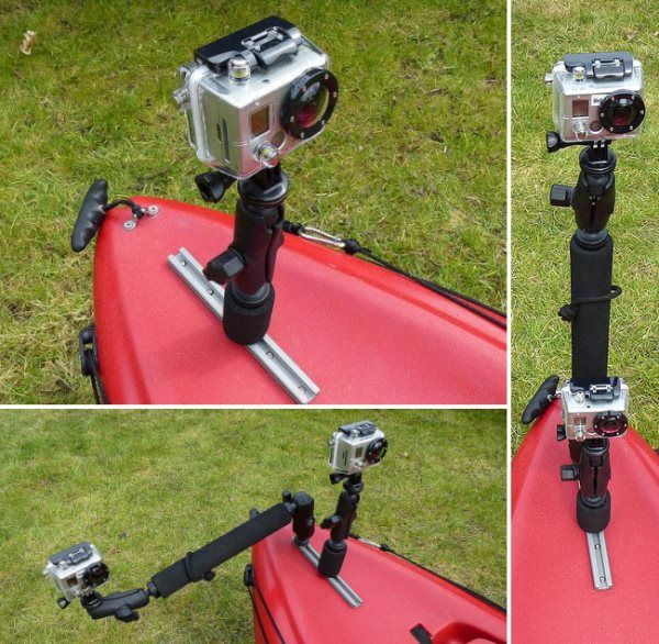 GoPro Photography Rigging For Kayak Fishing. I wouldn't use it for fishing though...