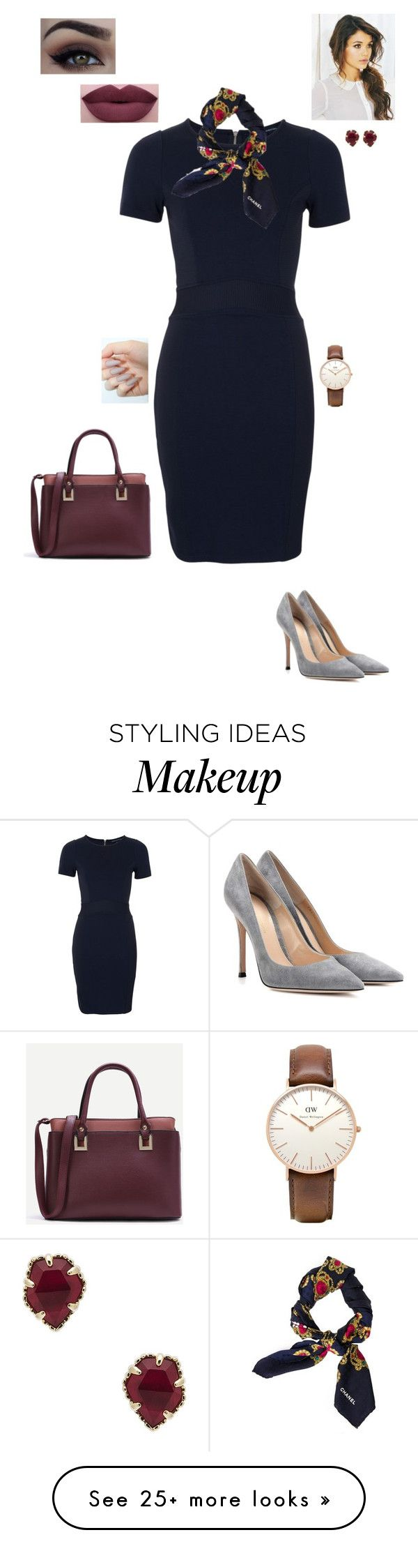 """7.2.17"" by jesshorne2016 on Polyvore featuring Gianvito Rossi, Mon Cheri, French Connection, NYX, Chanel, Daniel Wellington and Kendra Scott"