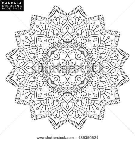 Mandala Vector Floral Flower Oriental Coloring