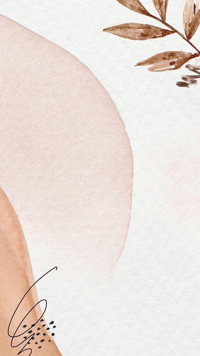 Download premium illustration of Brown watercolor Memphis ...