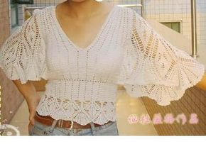 Blusa con amplias mangas | Mi Rincon de Crochet