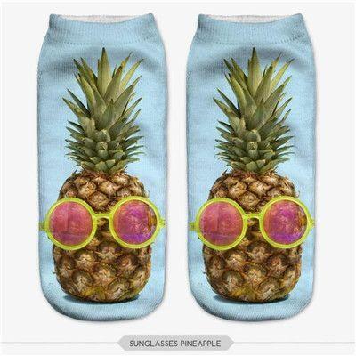 $.99// pineapple socks// Delivery: 2-4 weeks