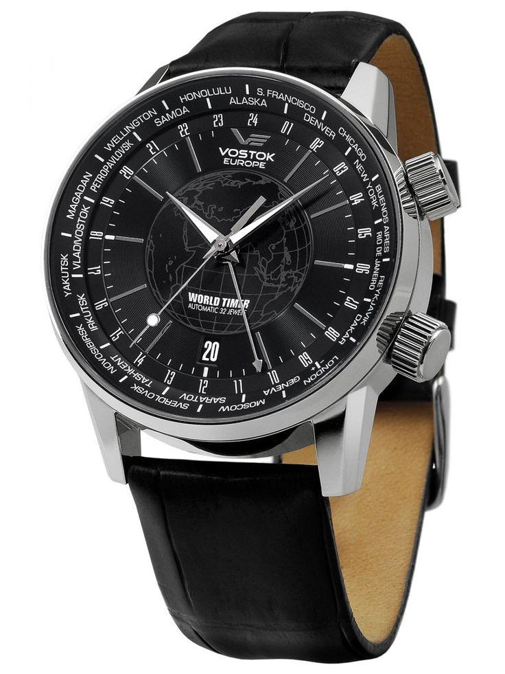 VOSTOK EUROPE World Timer Automatic Watch 24 hour watch