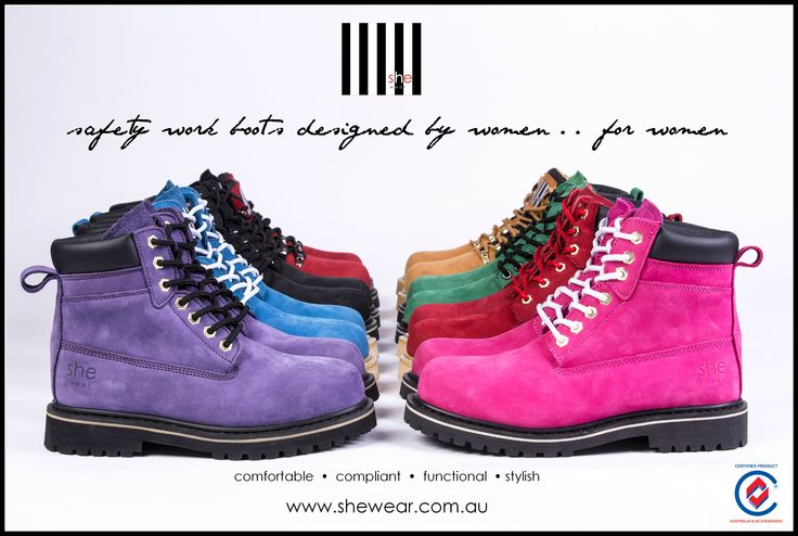 Safety work boots designed by women .. for women.