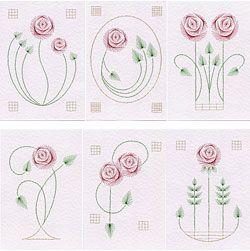 Een Glasgow roos motief leidt tot zes Art Nouveau stiksels kaart patronen   Prick En Stitch Is My Craft