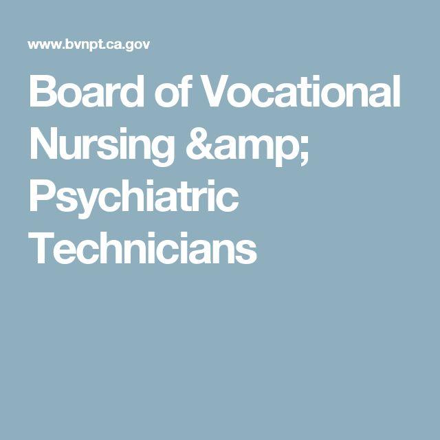 Board of Vocational Nursing & Psychiatric Technicians