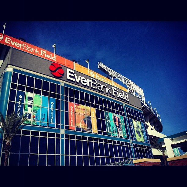 EverBank Field in Jacksonville, FL.  Home of the Jacksonville Jaguars!
