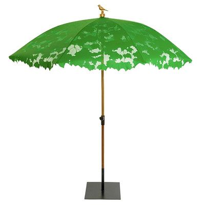 Droog Shadylace Parasol in Green or White - an excellent choice for French outdoor living design available at http://www.metropolitandecor.com/SHADYLACE-PARASOL-DROOG-GREEN-SHADE.html