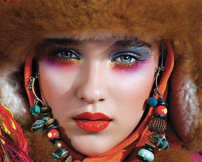 Makijaż inspirowany etno