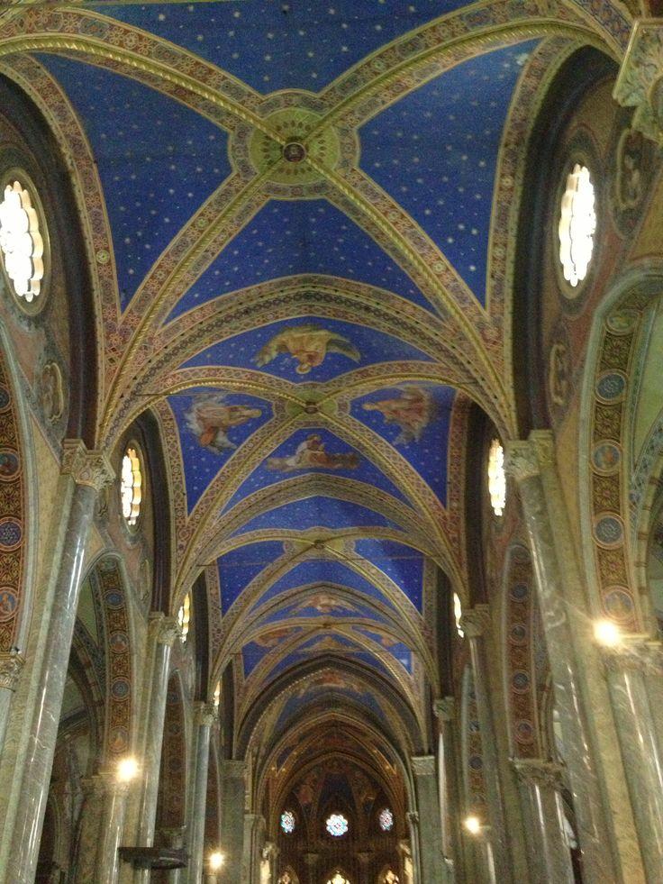 Church With Blue Ceiling Rome 2013 Churches Doors