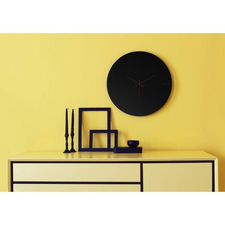 Ρολόγια τοίχου της Εταιρείας xline. Wall clock tre black 50cm 95€