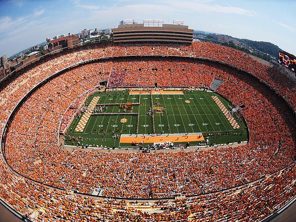 University of Tennessee Neyland Stadium. If you are a student at UT you will most likely go to many ball games!