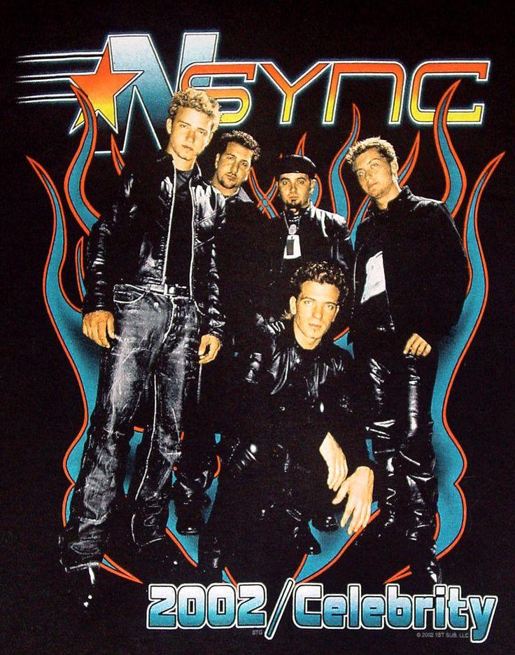 Vtg 2002 T Shirt XL NSYNC CELEBRITY TOUR justin timberlake backstreet boys band #Hanes