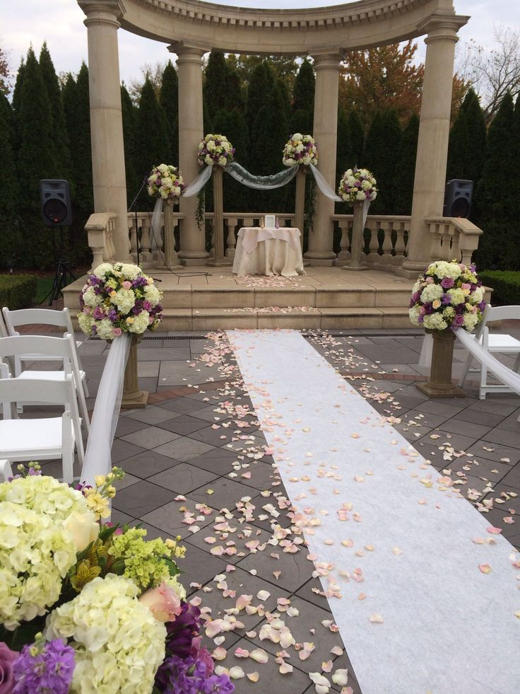 outdoor ceremony rockleigh country club amaryllis decorators northvale new jersey