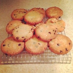 "THM-S Chocolate Chip Cookies  ""These are my favorite! You can sub 1/2 C coconut flour or 3/4 Cup Peanut flour for 1 of the Cups almond flour if you don't have the 3 C on hand  Mel, Admin"""