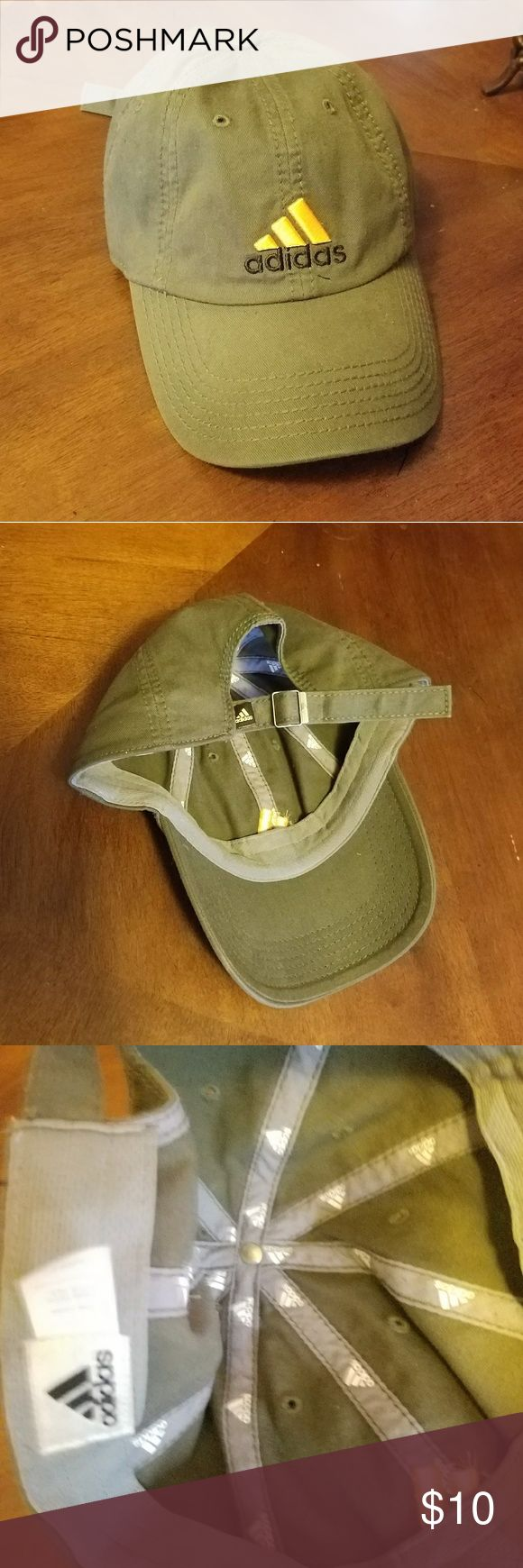 Adidas Snapback Cap Olive green with yellow symbol Good condition No stains maybe worn once or twice adidas Accessories Hats