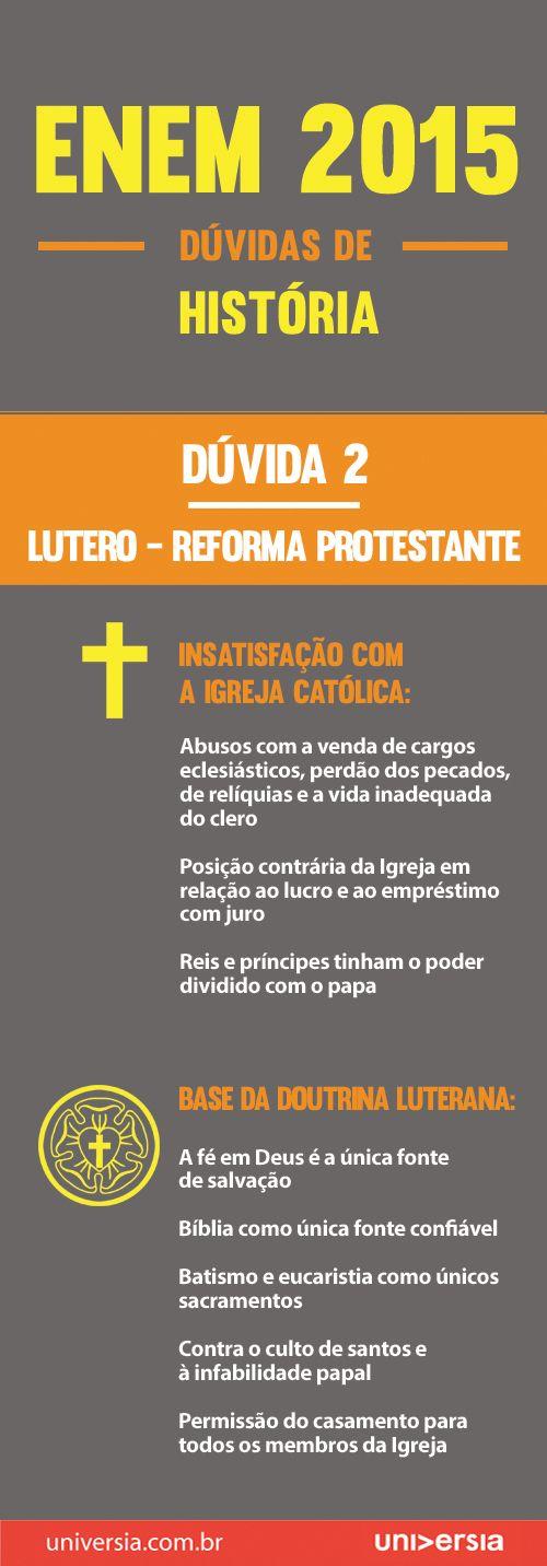 A segunda dúvida mais comum de história para o Enem refere-se à Reforma Protestante