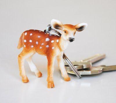 Reindeer keyholder. Made of a plastic toy :-)