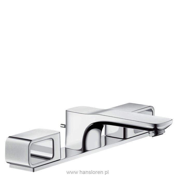 Axor Urquiola Hansgrohe 3-otworowa bateria umywalkowa zpłytką DN15 chrom - 11040000  http://www.hansloren.pl/Baterie-umywalkowe