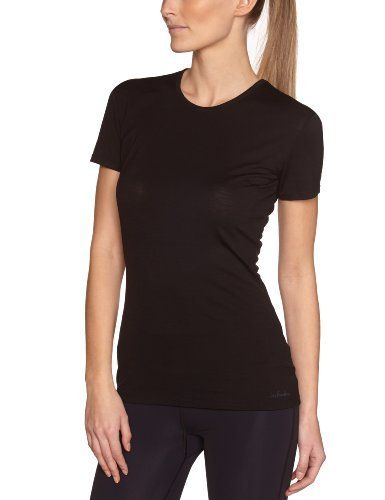 Intéressé(e) par les vêtements de randonnée ? Profitez de nos promotions femme de -20% à -50%*. Visitez également notre boutique Randonnée et Camping.  Icebreaker Siren Crewe T-Shirt manches courtes femme Noir FR : 38 (Taille Fabricant : S) de Ice Breaker, http://www.amazon.fr/dp/B0085W4T8E/ref=cm_sw_r_pi_dp_23G.rb1JXR5W0