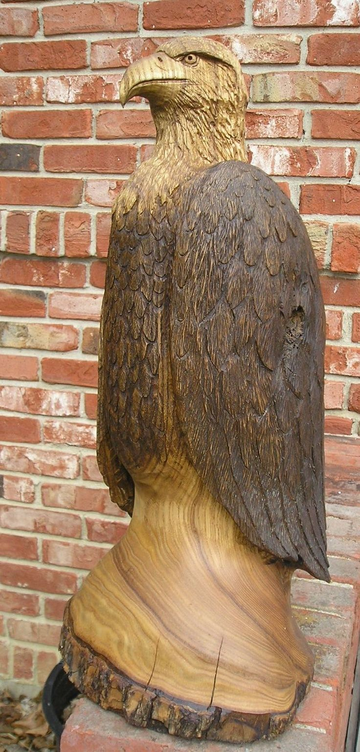 Image detail for eagle chainsaw carving