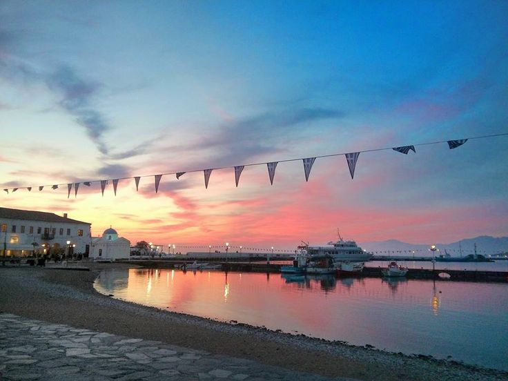 #Mykonos ,#Beautiful #sunset Over #Delos #pier #Enjoy