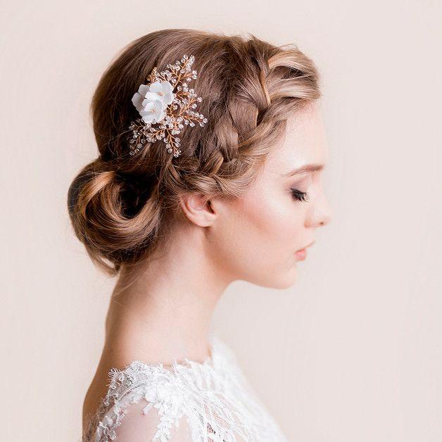 Kryształowa rączka do włosów z Hydrangea Blooms - Florentes - Akcesoria do włosów