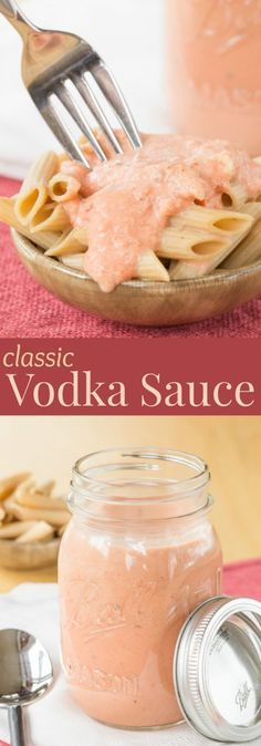 Classic Vodka Sauce - this rich and creamy pasta sauce recipe takes only minutes to make, but tastes amazing. Serve it over noodles or zoodles, add chicken or shrimp, or toss in peas or broccoli for #SundaySupper | cupcakesandkalechips.com