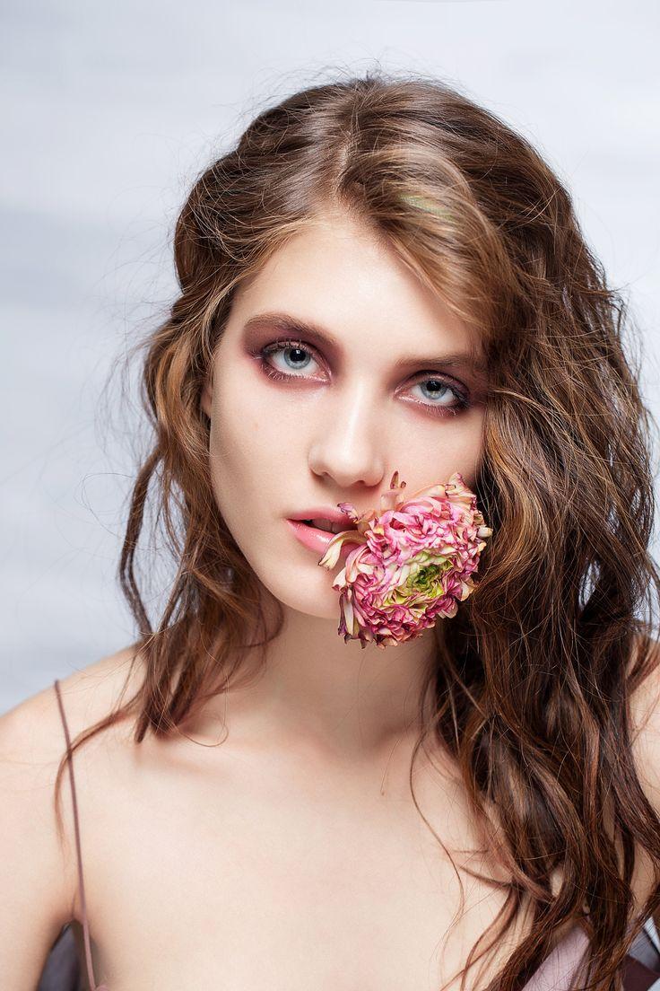 beauty цветы портрет девушка вуаль фото визаж makeup весна студия