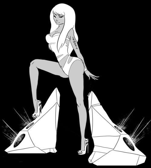I would like to commission someone to draw me as a badass anime super hero like this Nicki Minaj rendition