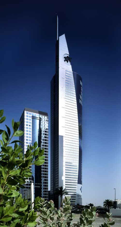 21st Century Tower, Dubai by Atkins Architects :: 55 floors, height 269m