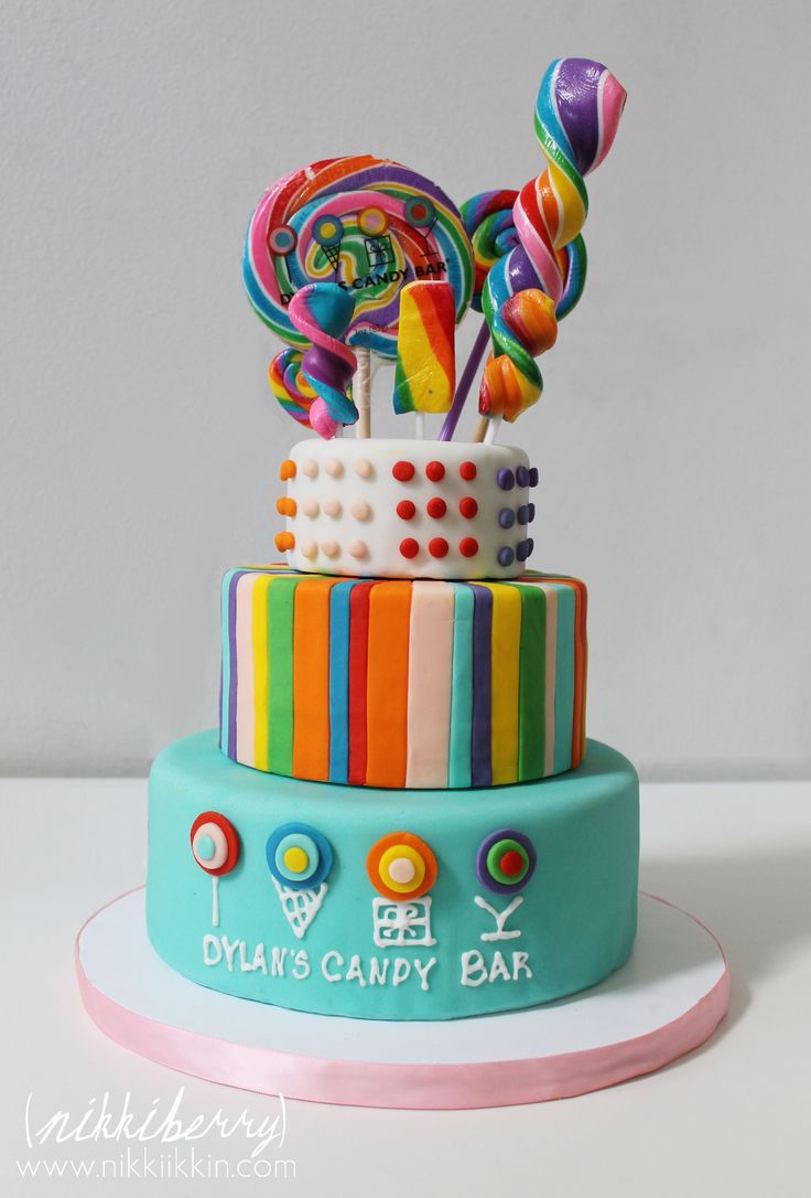 candy birthday cake | My candy cake was inspired by the signature cakes that Dylan's Candy ...