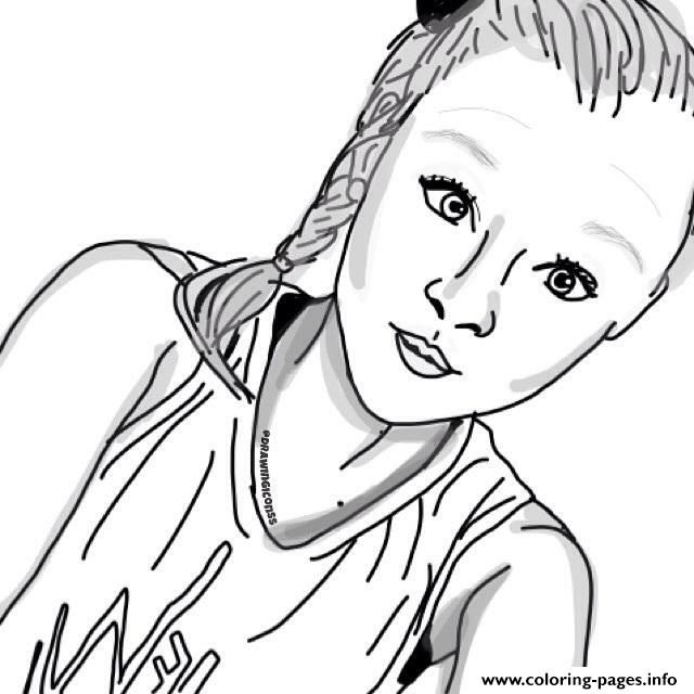 Print Jojo Siwa Artfan Coloring Pages Jojo Siwa Coloring Pages Drawings