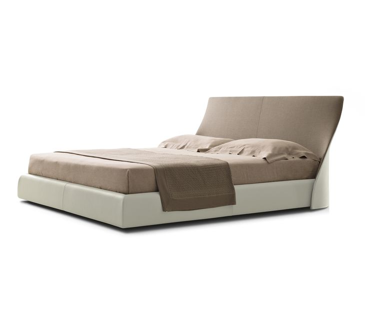 A programme of double beds available for mattress in the sizes 180 and 200 cm in width. The headrest frame is in profiled steel with the padding in..