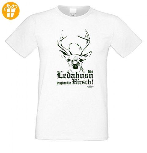 T-Shirt für Herren zum Volksfest + Wiesn sw - Mei Ledahosn trogt no da