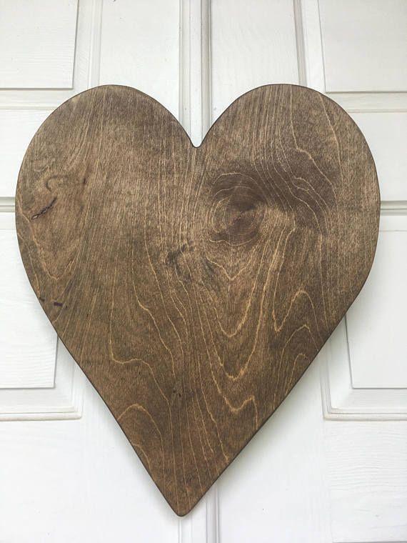 Large Wooden Heart Wooden Heart Guest Book Wooden Heart With Images Heart Wall Decor Wooden Hearts Wooden Heart Guest Book